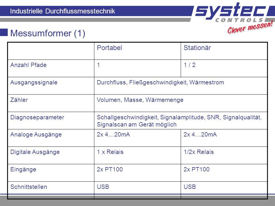 Messumformer (1) Portabel Stationär Anzahl Pfade 1 1 / 2