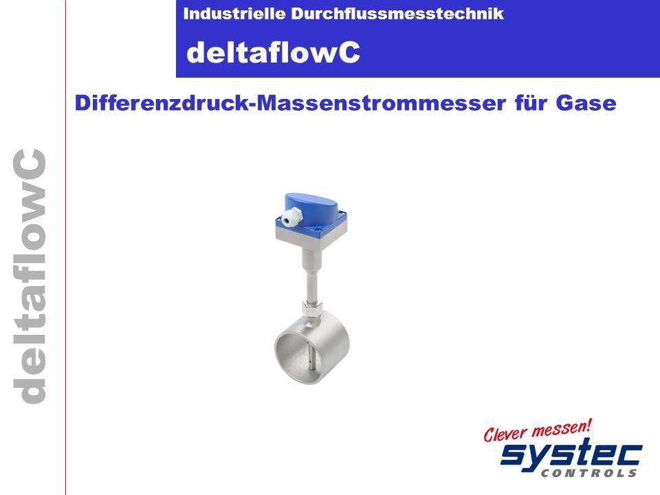 deltaflowC Differenzdruck-Massenstrommesser für Gase 1