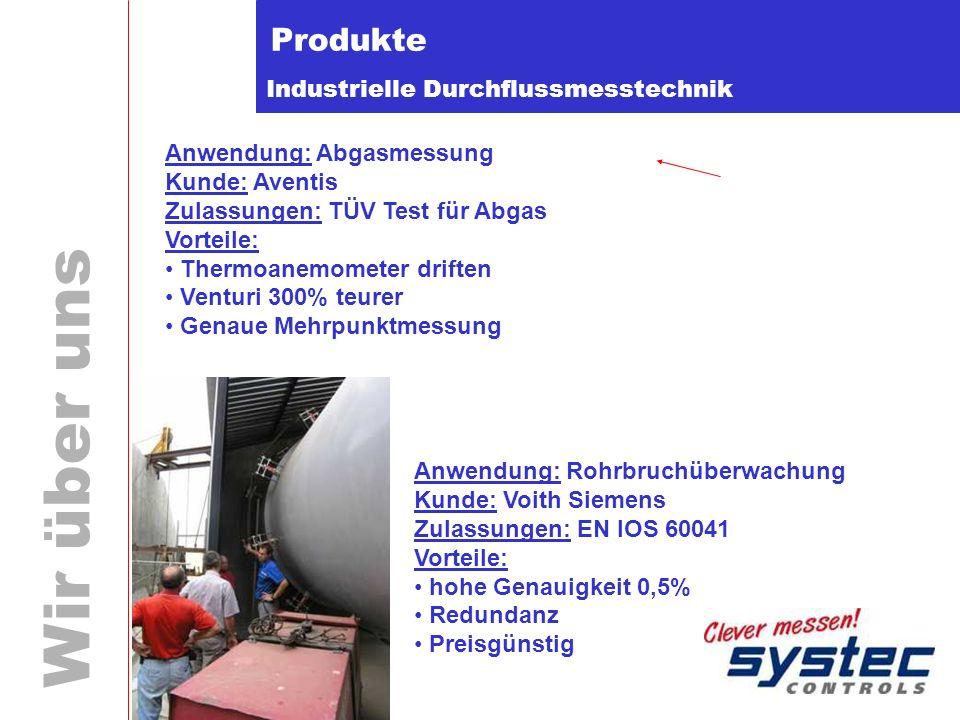 Produkte Anwendung: Abgasmessung Kunde: Aventis