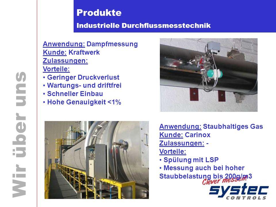 Produkte Anwendung: Dampfmessung Kunde: Kraftwerk Zulassungen: