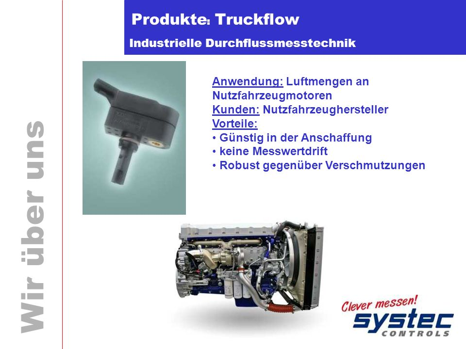 Produkte: Truckflow Anwendung: Luftmengen an Nutzfahrzeugmotoren