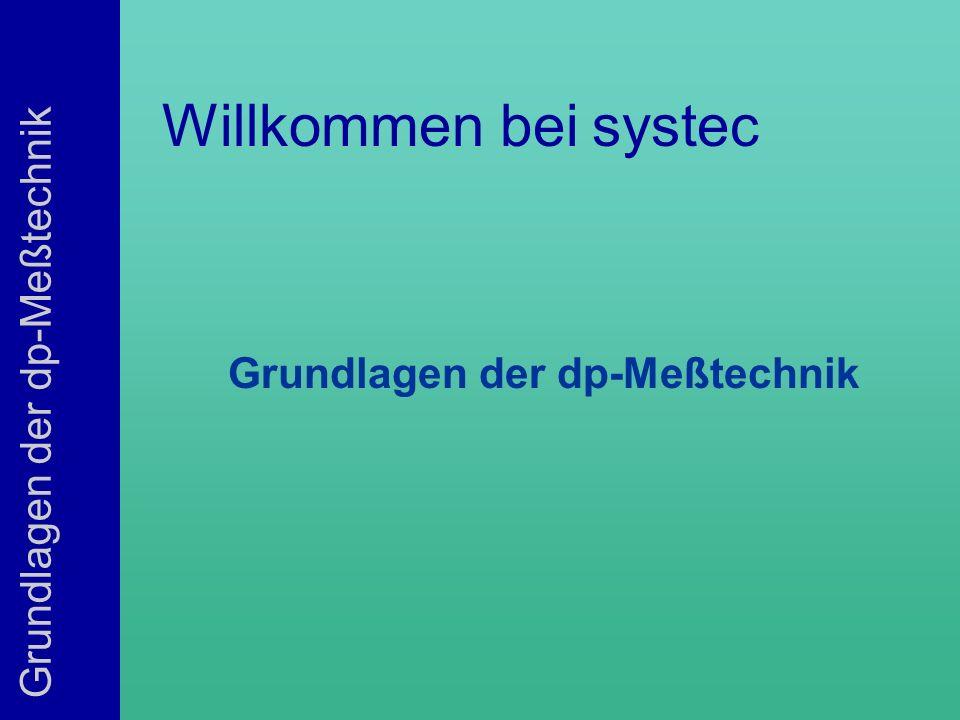 Grundlagen der dp-Meßtechnik