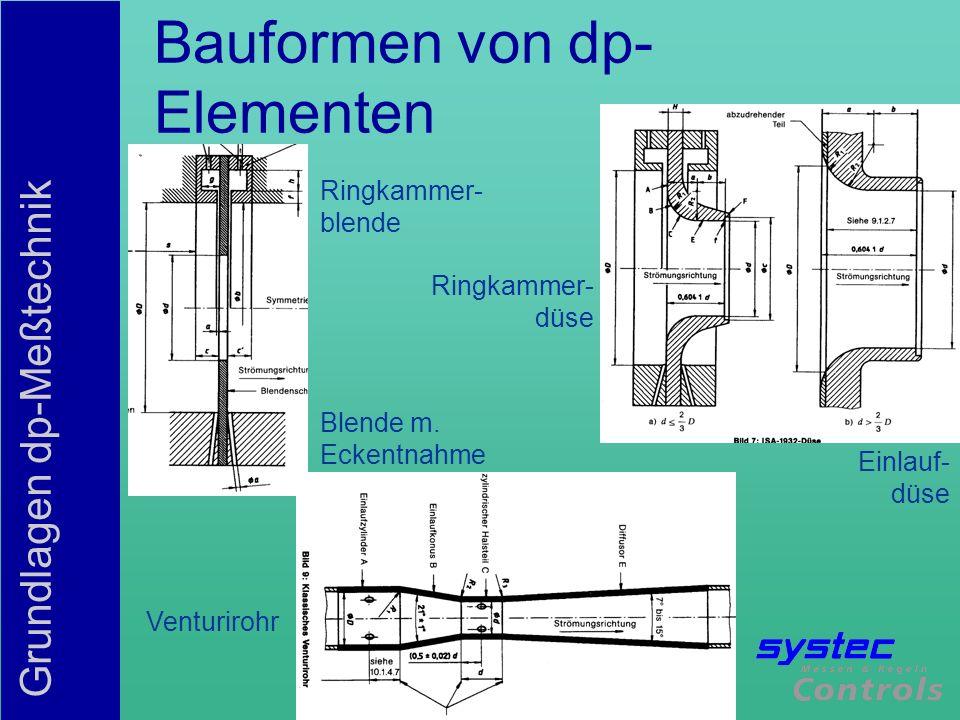 Bauformen von dp-Elementen