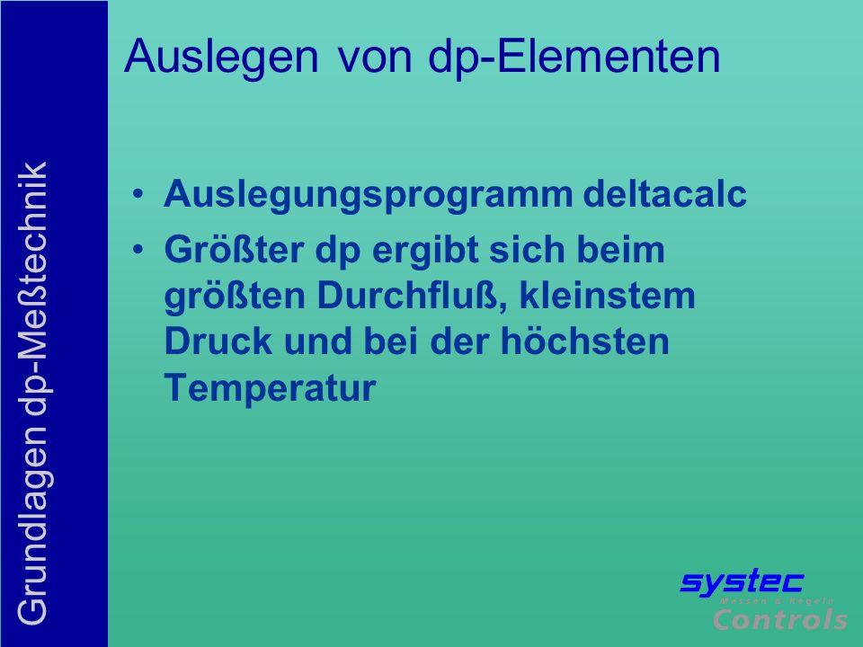 Auslegen von dp-Elementen