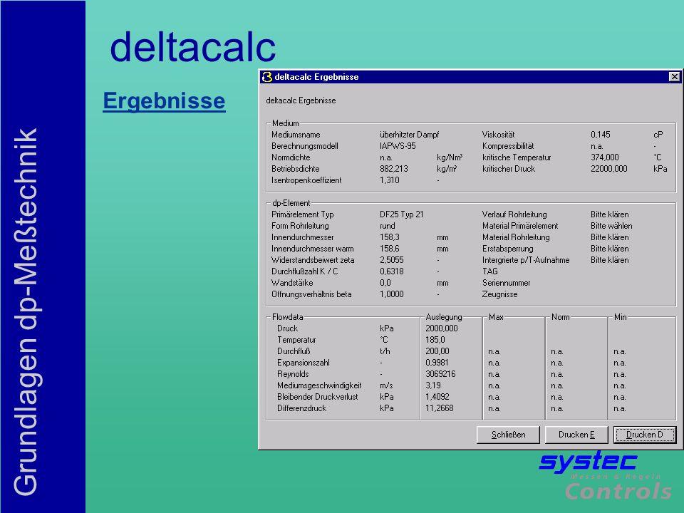 deltacalc Ergebnisse