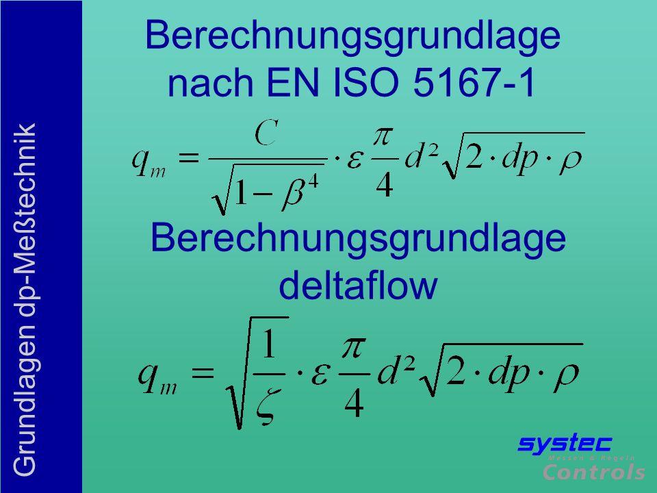 Berechnungsgrundlage nach EN ISO 5167-1
