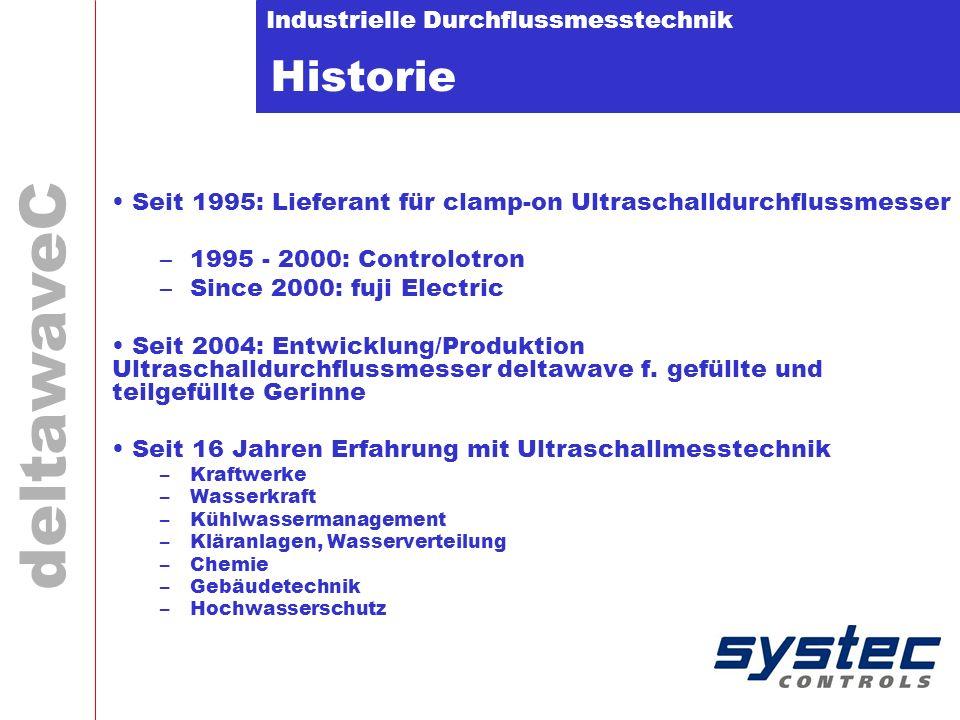 Historie Seit 1995: Lieferant für clamp-on Ultraschalldurchflussmesser