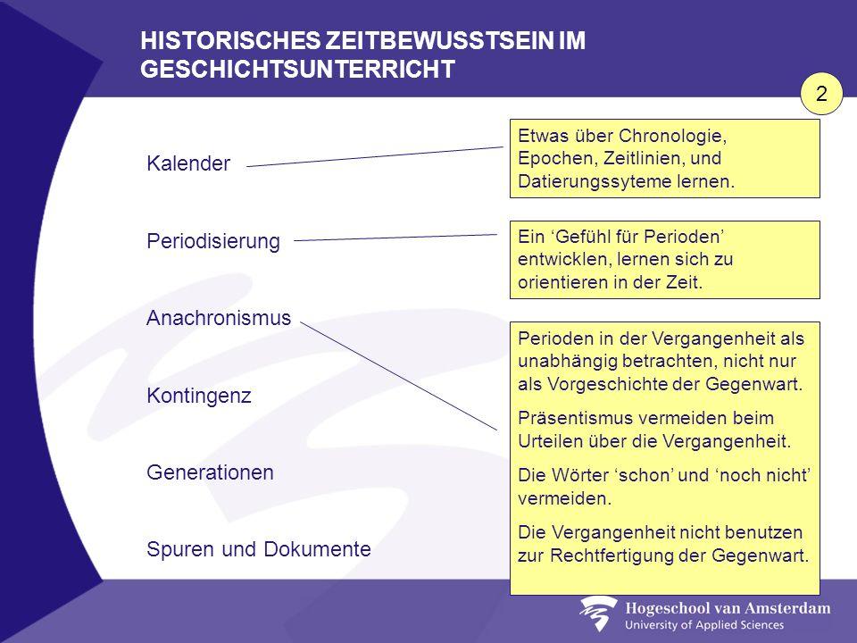 HISTORISCHES ZEITBEWUSSTSEIN IM GESCHICHTSUNTERRICHT