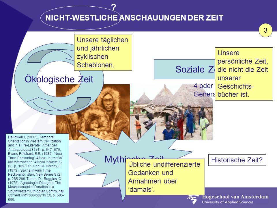 NICHT-WESTLICHE ANSCHAUUNGEN DER ZEIT