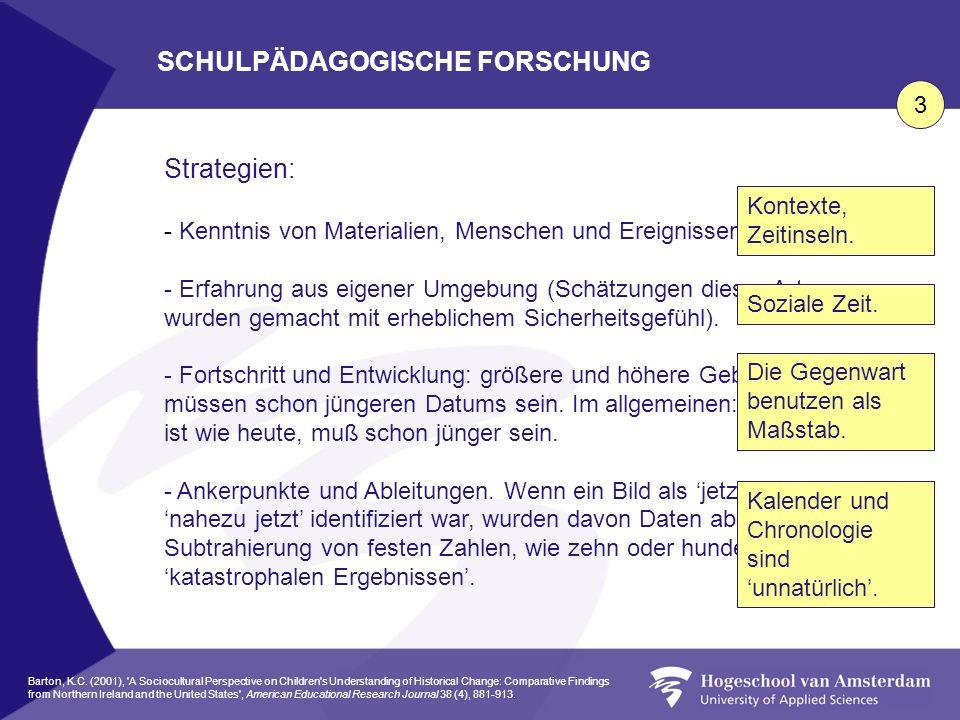 SCHULPÄDAGOGISCHE FORSCHUNG