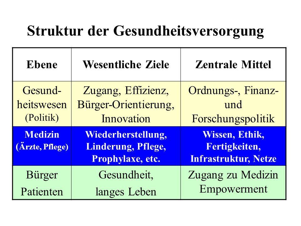 Struktur der Gesundheitsversorgung