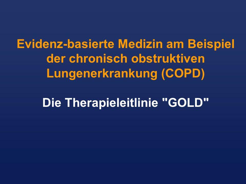 Die Therapieleitlinie GOLD