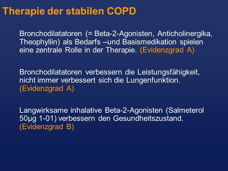 Therapie der stabilen COPD