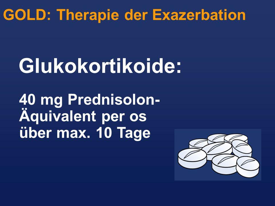 Glukokortikoide: GOLD: Therapie der Exazerbation