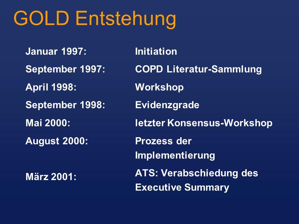 GOLD Entstehung Januar 1997: September 1997: April 1998: