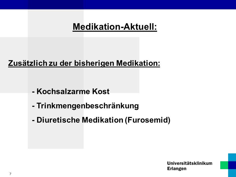 Medikation-Aktuell: Zusätzlich zu der bisherigen Medikation: