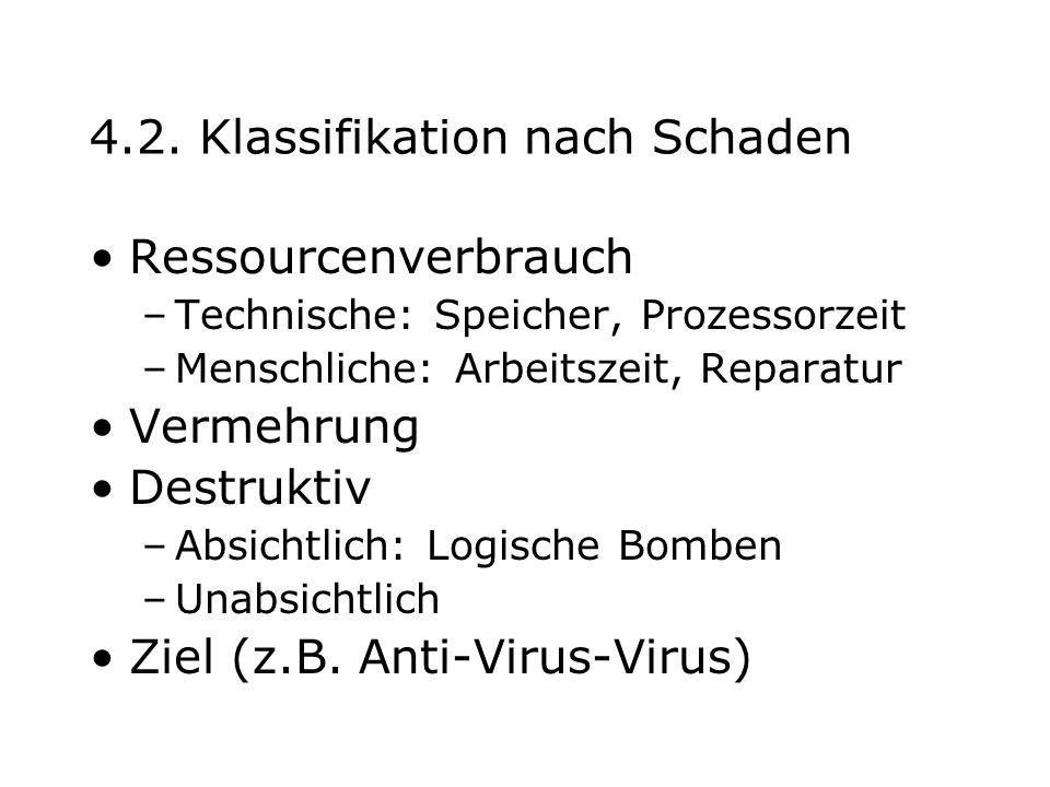 4.2. Klassifikation nach Schaden
