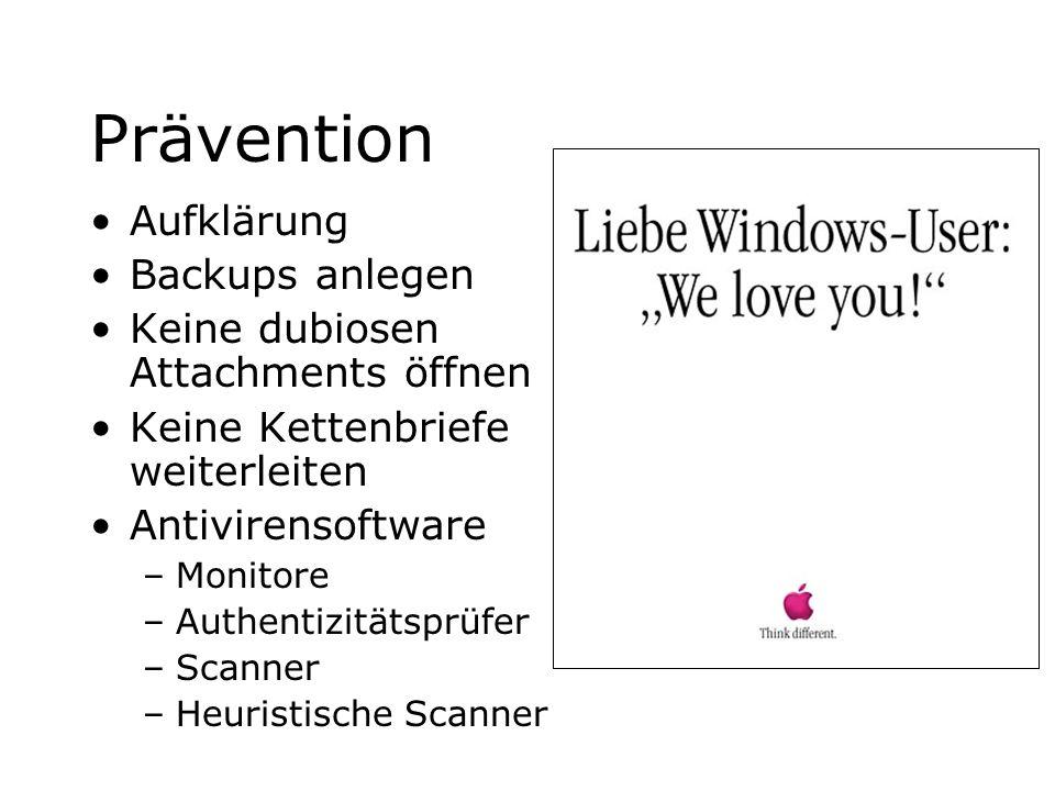 Prävention Aufklärung Backups anlegen