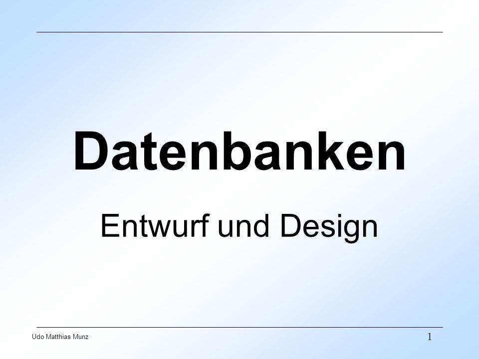 Datenbanken Entwurf und Design