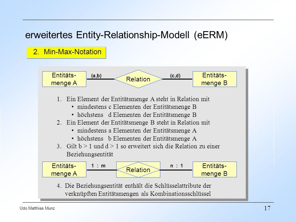 erweitertes Entity-Relationship-Modell (eERM)