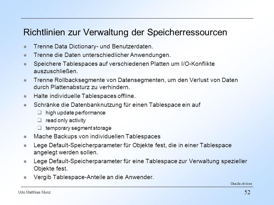 Richtlinien zur Verwaltung der Speicherressourcen