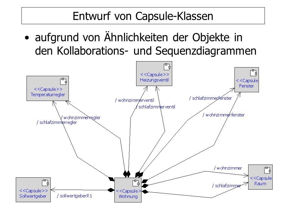 Entwurf von Capsule-Klassen