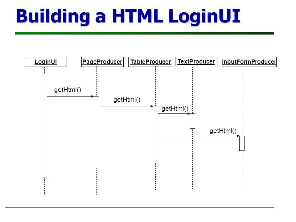 Building a HTML LoginUI