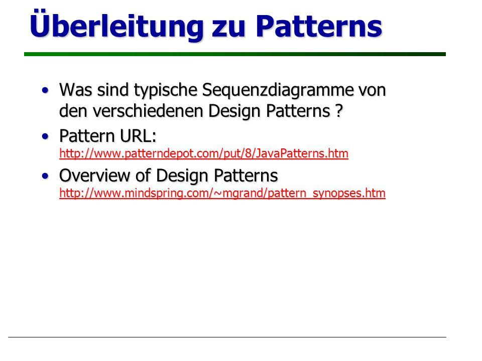 Überleitung zu Patterns
