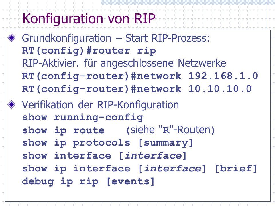 Konfiguration von RIP