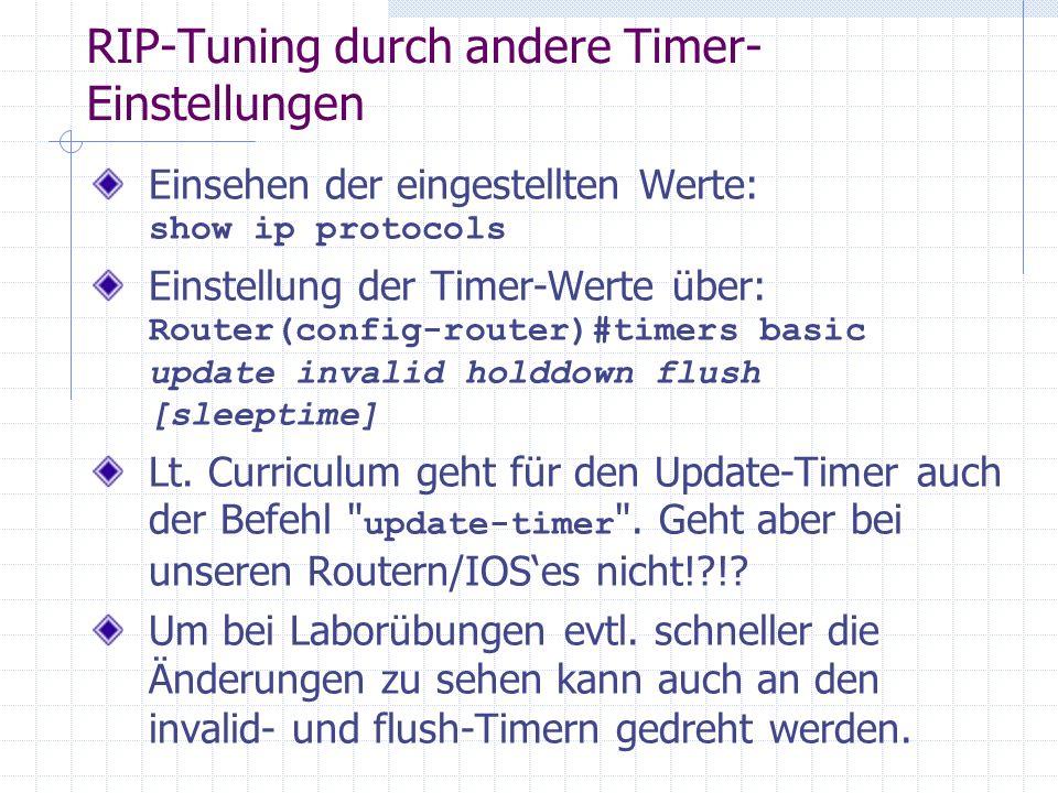 RIP-Tuning durch andere Timer-Einstellungen