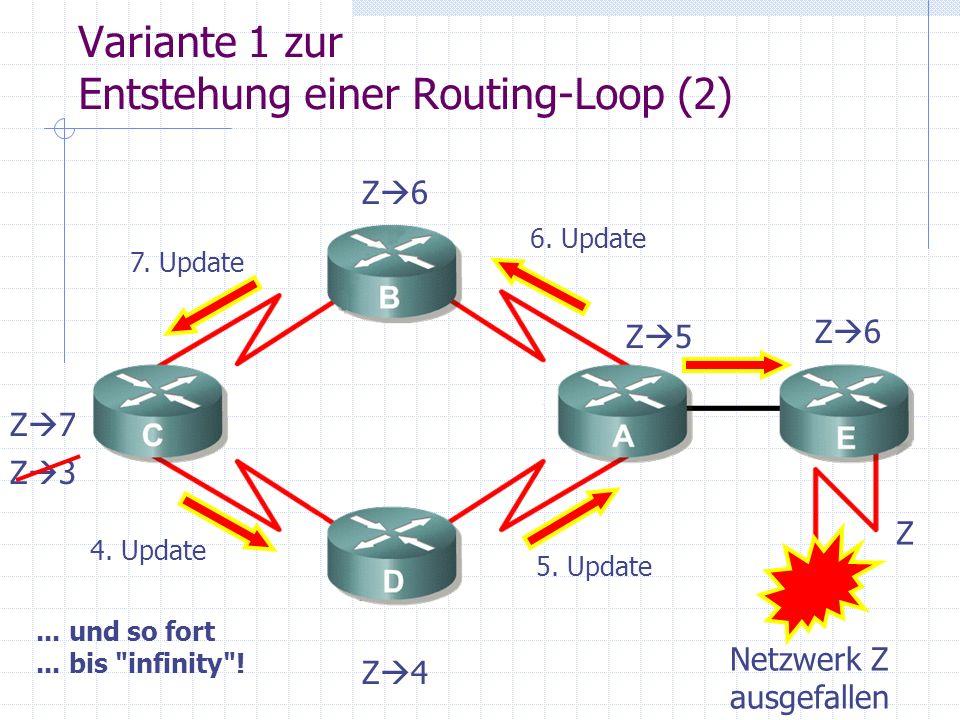 Variante 1 zur Entstehung einer Routing-Loop (2)