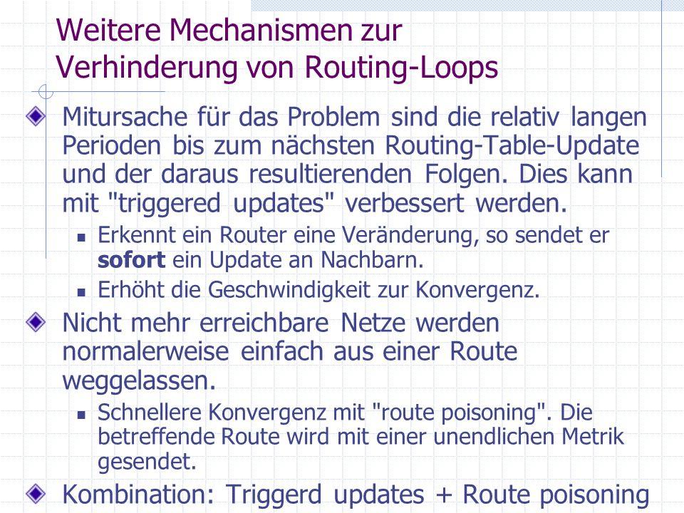 Weitere Mechanismen zur Verhinderung von Routing-Loops