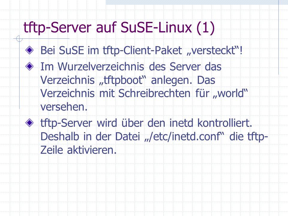 tftp-Server auf SuSE-Linux (1)