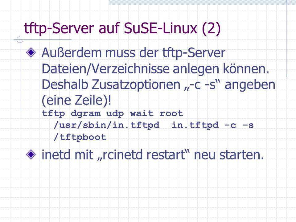 tftp-Server auf SuSE-Linux (2)