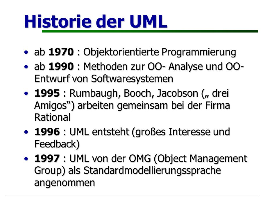 Historie der UML ab 1970 : Objektorientierte Programmierung