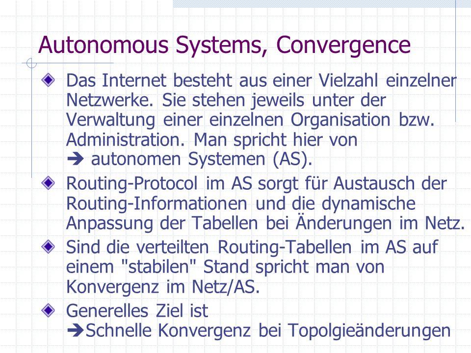 Autonomous Systems, Convergence
