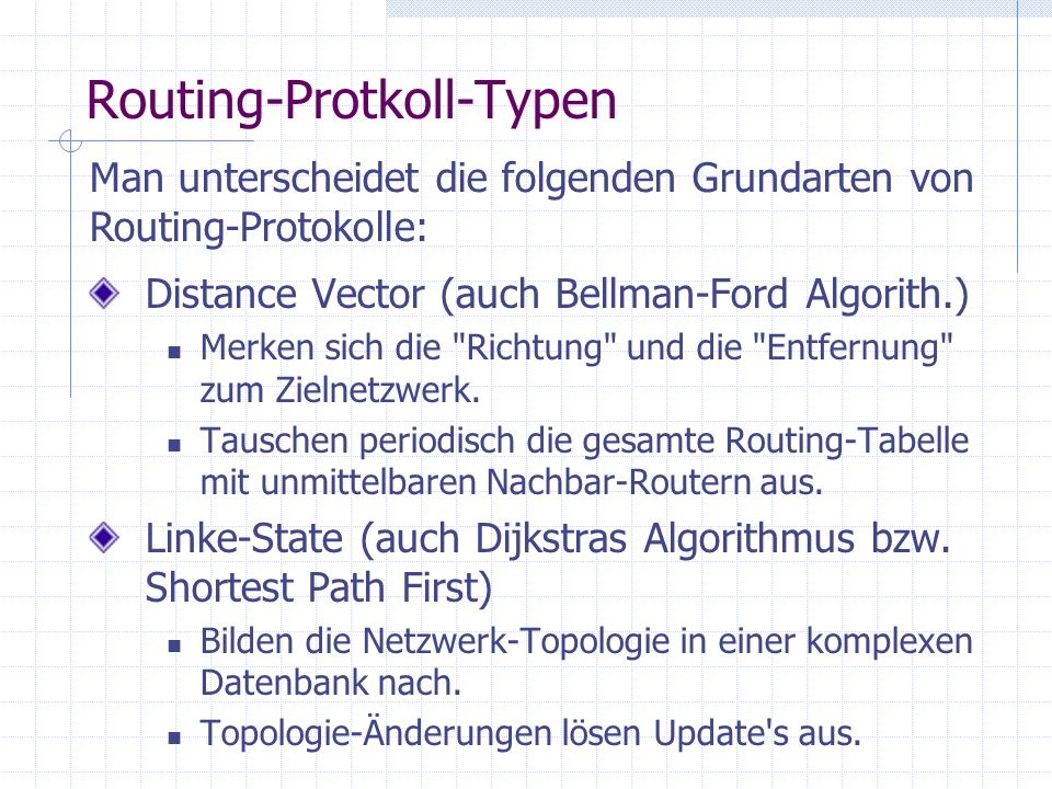 Routing-Protkoll-Typen