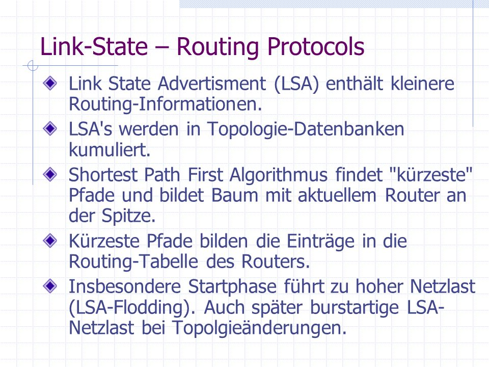 Link-State – Routing Protocols