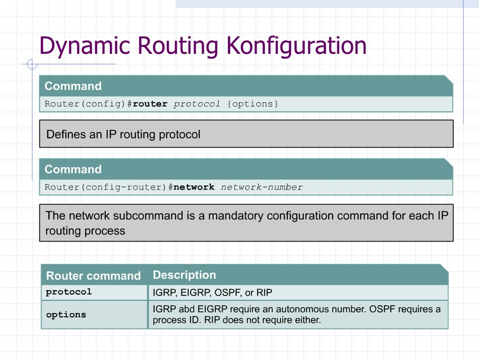 Dynamic Routing Konfiguration