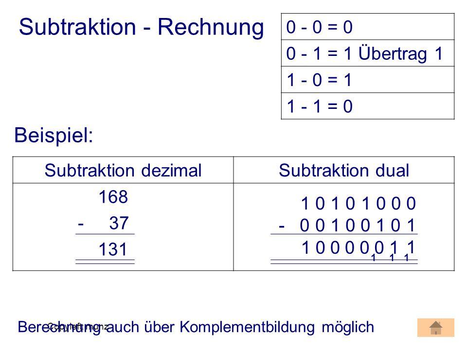 Subtraktion - Rechnung