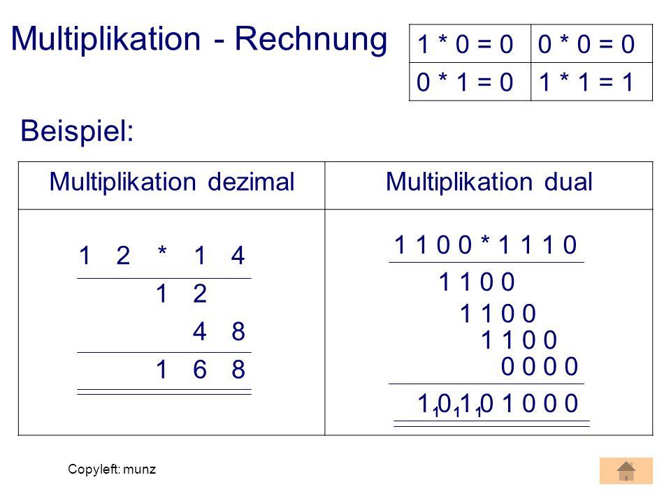Multiplikation - Rechnung