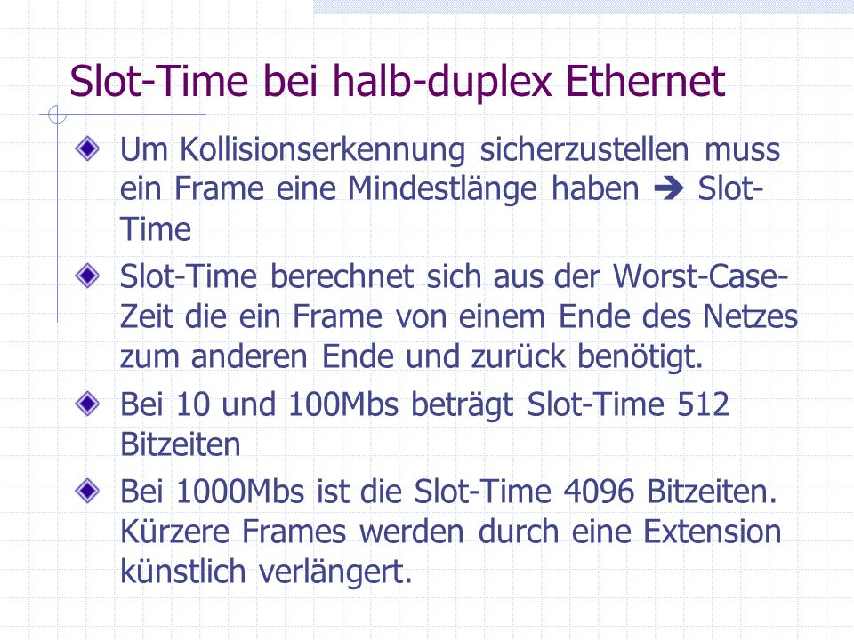 Slot-Time bei halb-duplex Ethernet