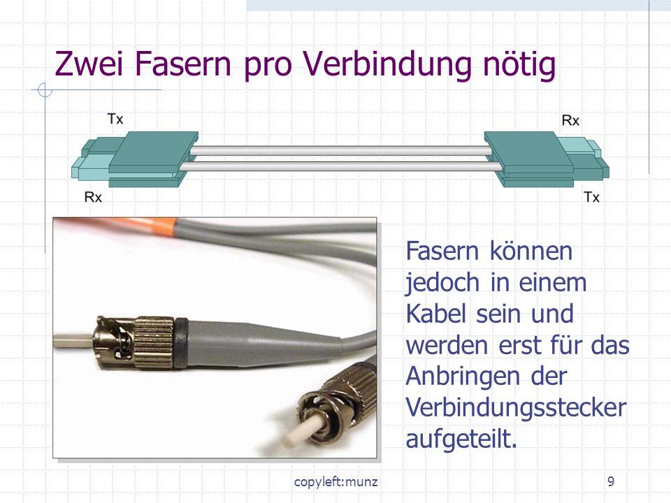 Zwei Fasern pro Verbindung nötig