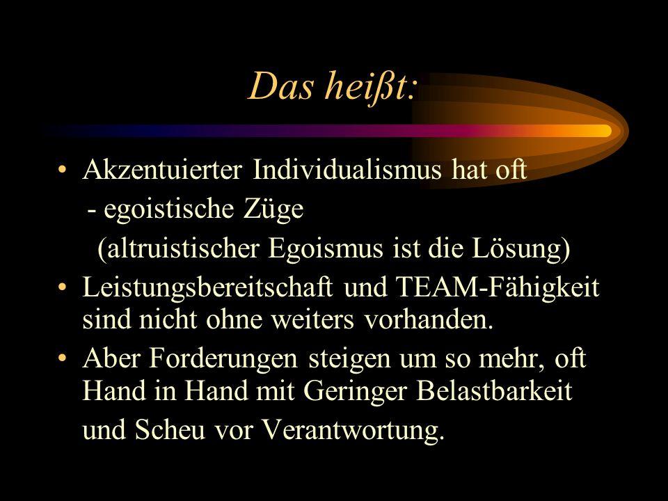 (altruistischer Egoismus ist die Lösung)