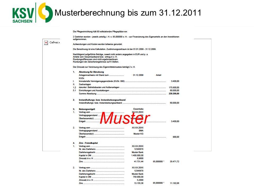 Musterberechnung bis zum 31.12.2011