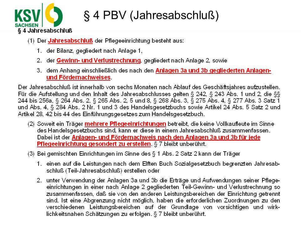 § 4 PBV (Jahresabschluß)