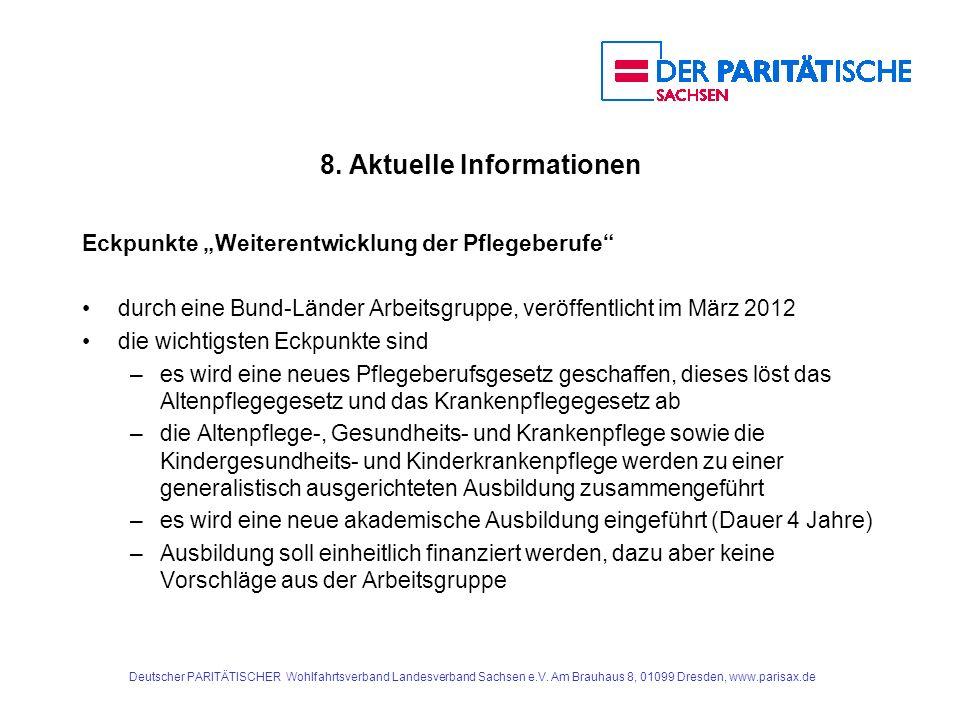 8. Aktuelle Informationen