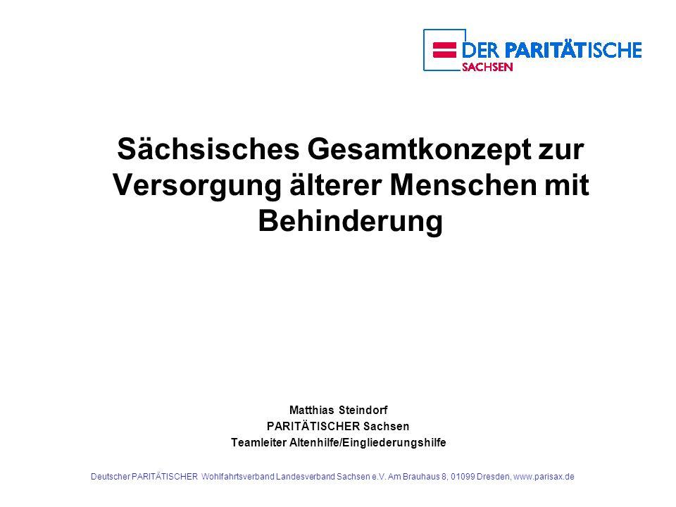 PARITÄTISCHER Sachsen Teamleiter Altenhilfe/Eingliederungshilfe