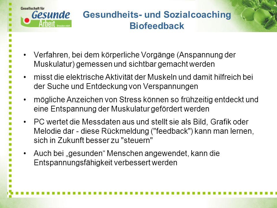 Gesundheits- und Sozialcoaching Biofeedback