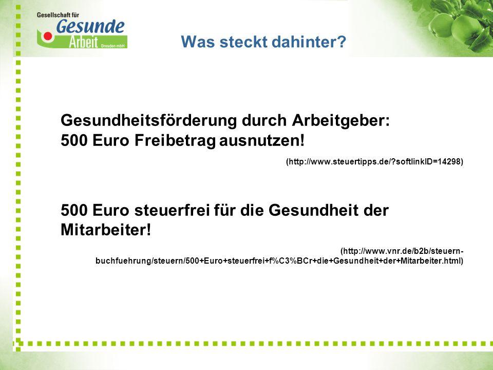 Gesundheitsförderung durch Arbeitgeber: 500 Euro Freibetrag ausnutzen!